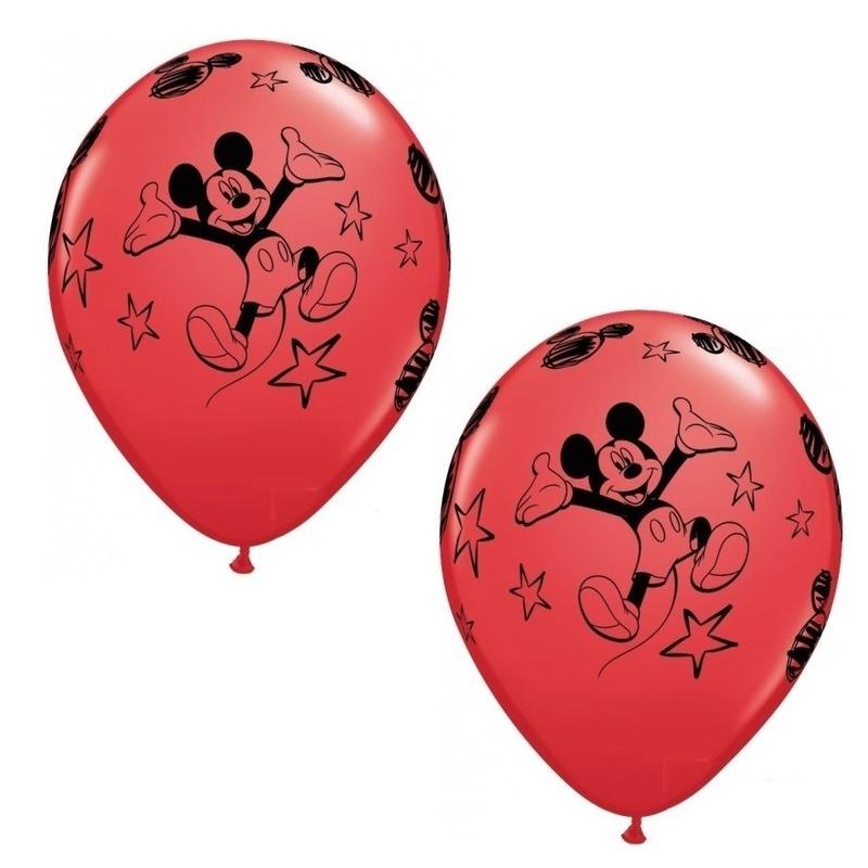 6x stuks Mickey Mouse thema party ballonnen