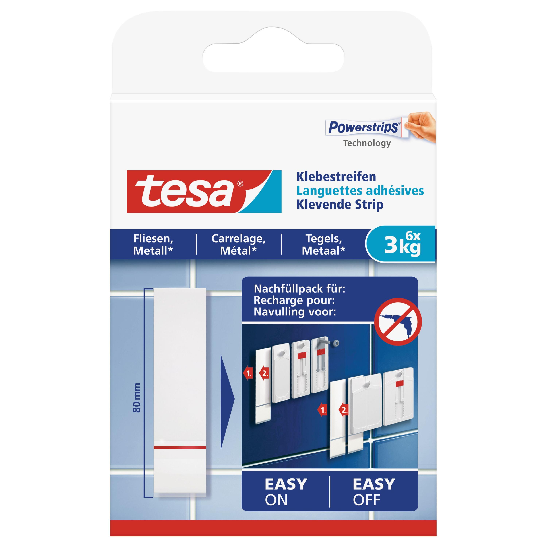 6x Tesa Powerstrips voor tegels-metaal klusbenodigdheden