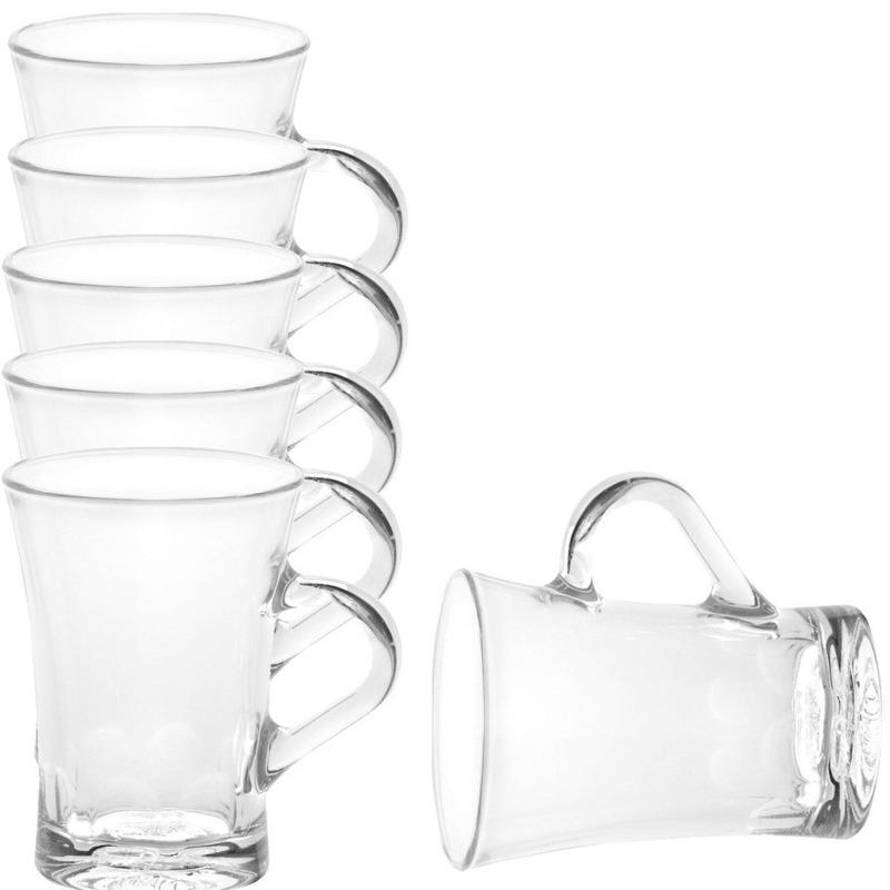 6x Theeglazen-koffieglazen transparant 170 ml Amalfi