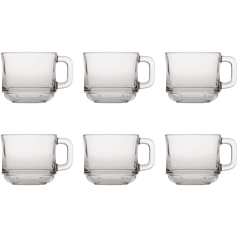6x Theeglazen-koffieglazen transparant 220 ml Lys