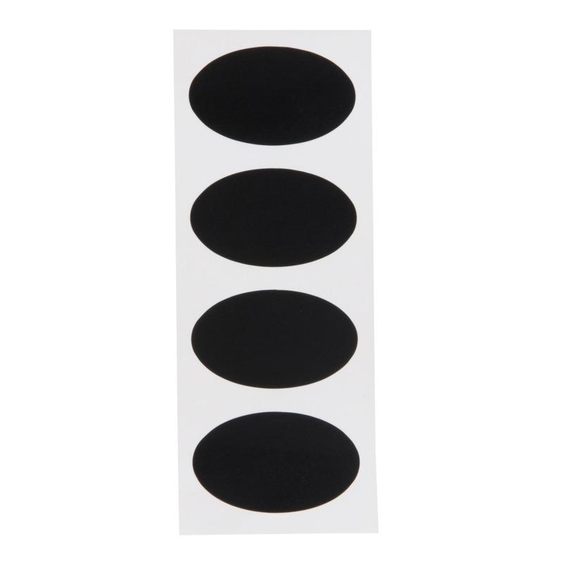 8x Voorraadkast etiketten-stickers ovaal 8 cm