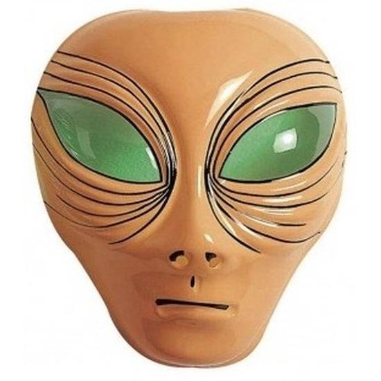 Alien verkleed masker bruin voor volwassenen