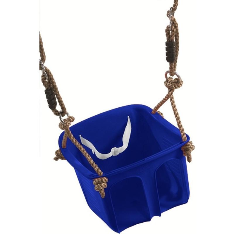 Baby-dreumes-peuter schommel blauw 32 cm max 36 mnd