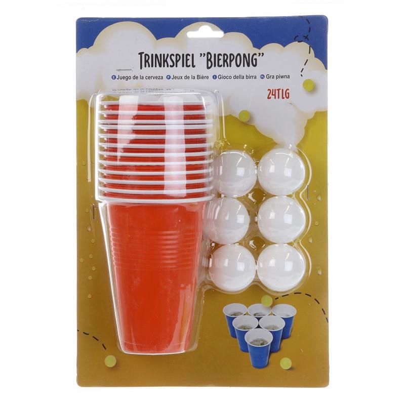 Beer pong set 24 delig