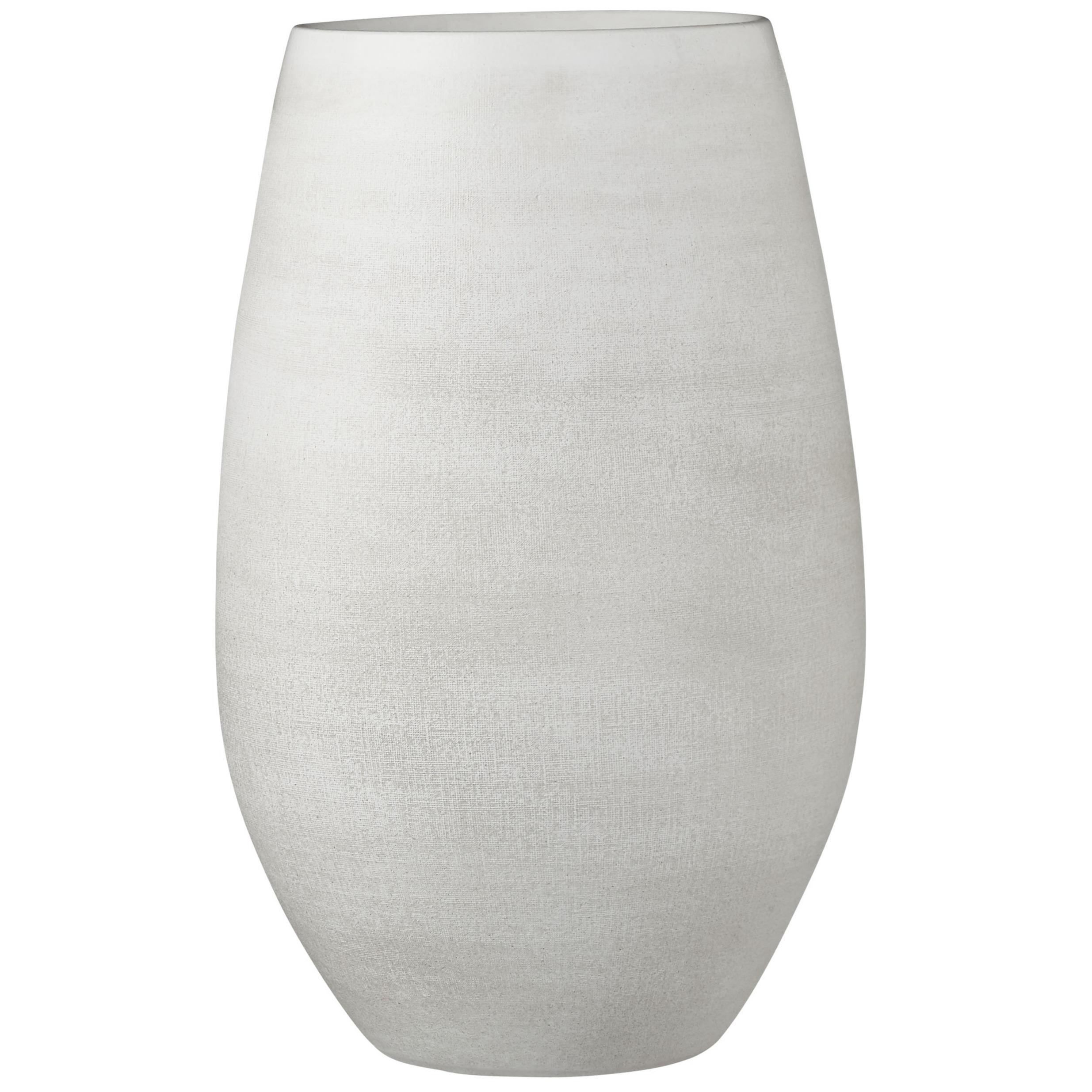 Bloempot vaas creme wit keramiek voor bloemen-planten H40 x D26 cm