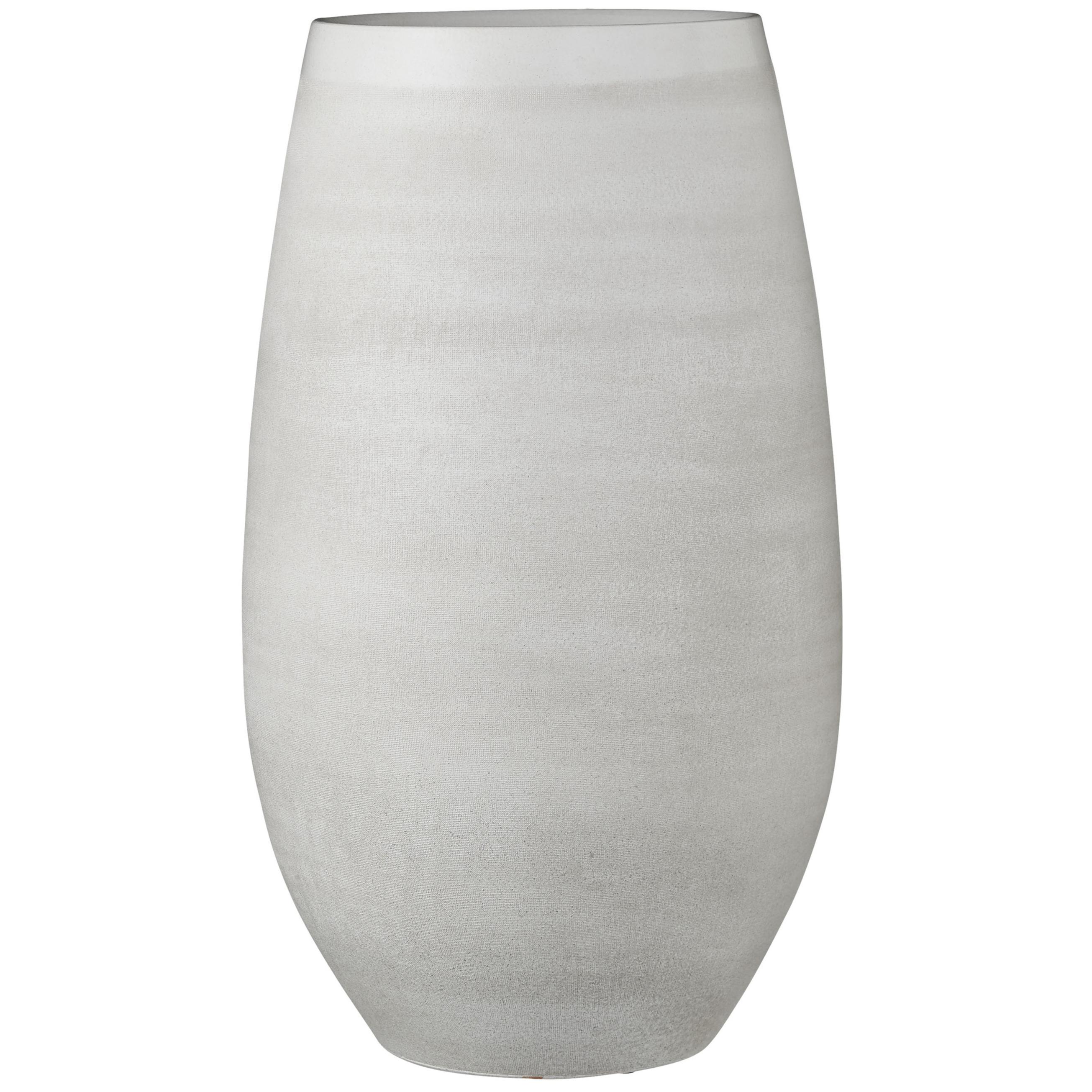 Bloempot vaas creme wit keramiek voor bloemen-planten H50 x D29 cm