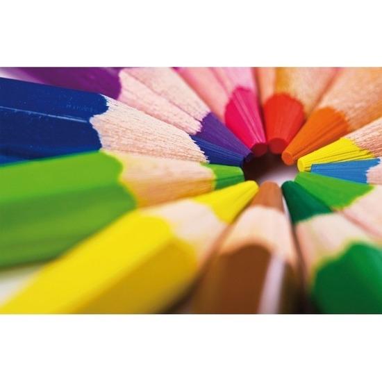 Bureau onderleggger PVC 44 x 68 cm design potloden