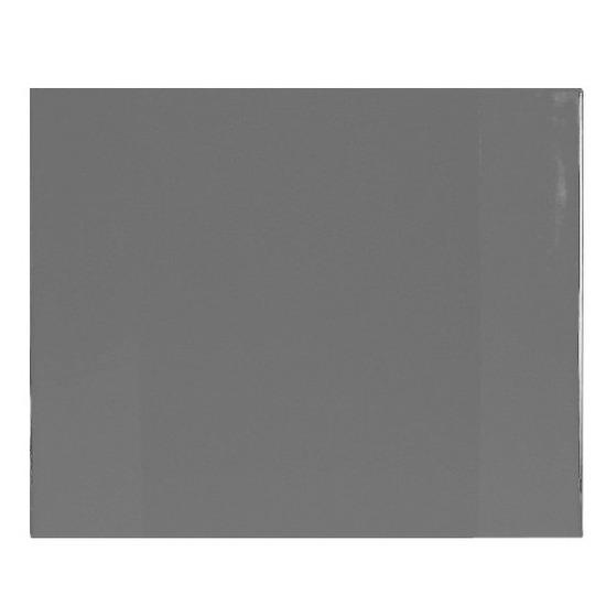Bureau onderleggger PVC 63 x 50 cm grijs