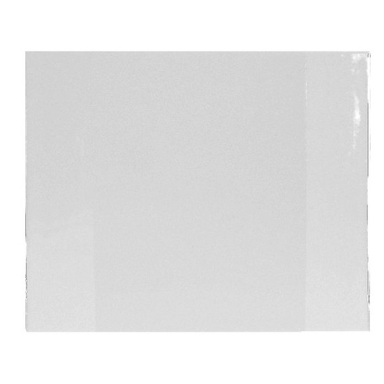 Bureau onderleggger PVC 63 x 50 cm transparant