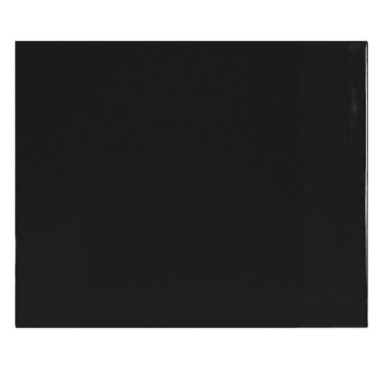 Bureau onderleggger PVC 63 x 50 cm zwart