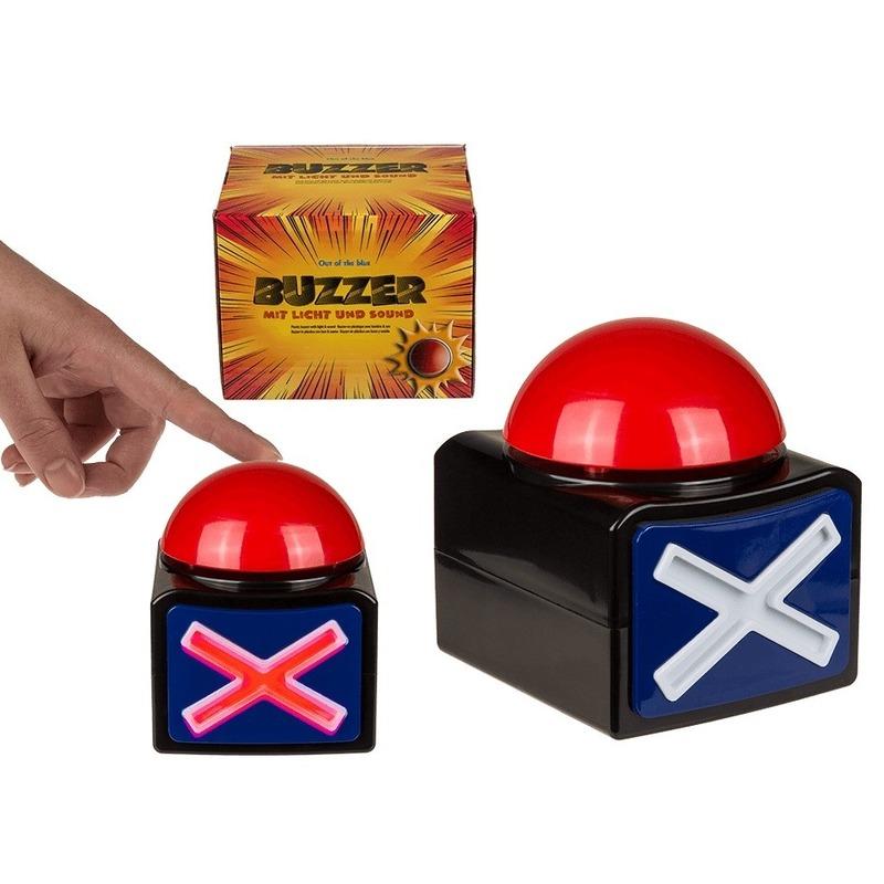 Buzzer TV show quiz drukknop met licht en geluid