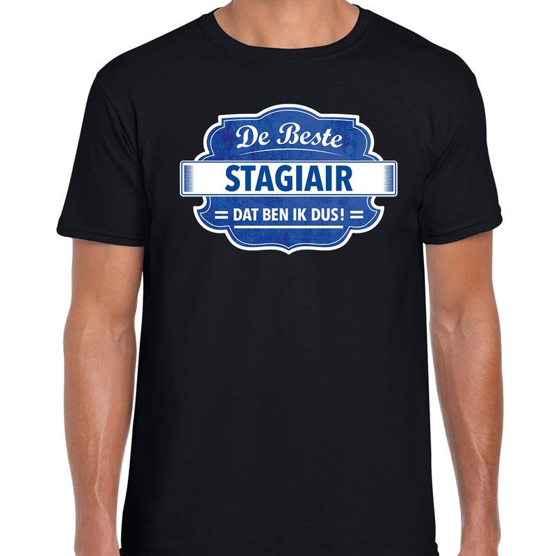 Cadeau t-shirt voor de beste stagiair zwart voor heren