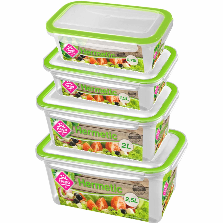 Diepvries-koelkast voedsel bewaarbakjes set van 11x stuks diverse formaten