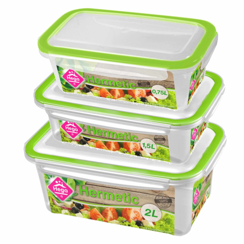 Diepvries-koelkast voedsel bewaarbakjes set van 6x stuks diverse formaten