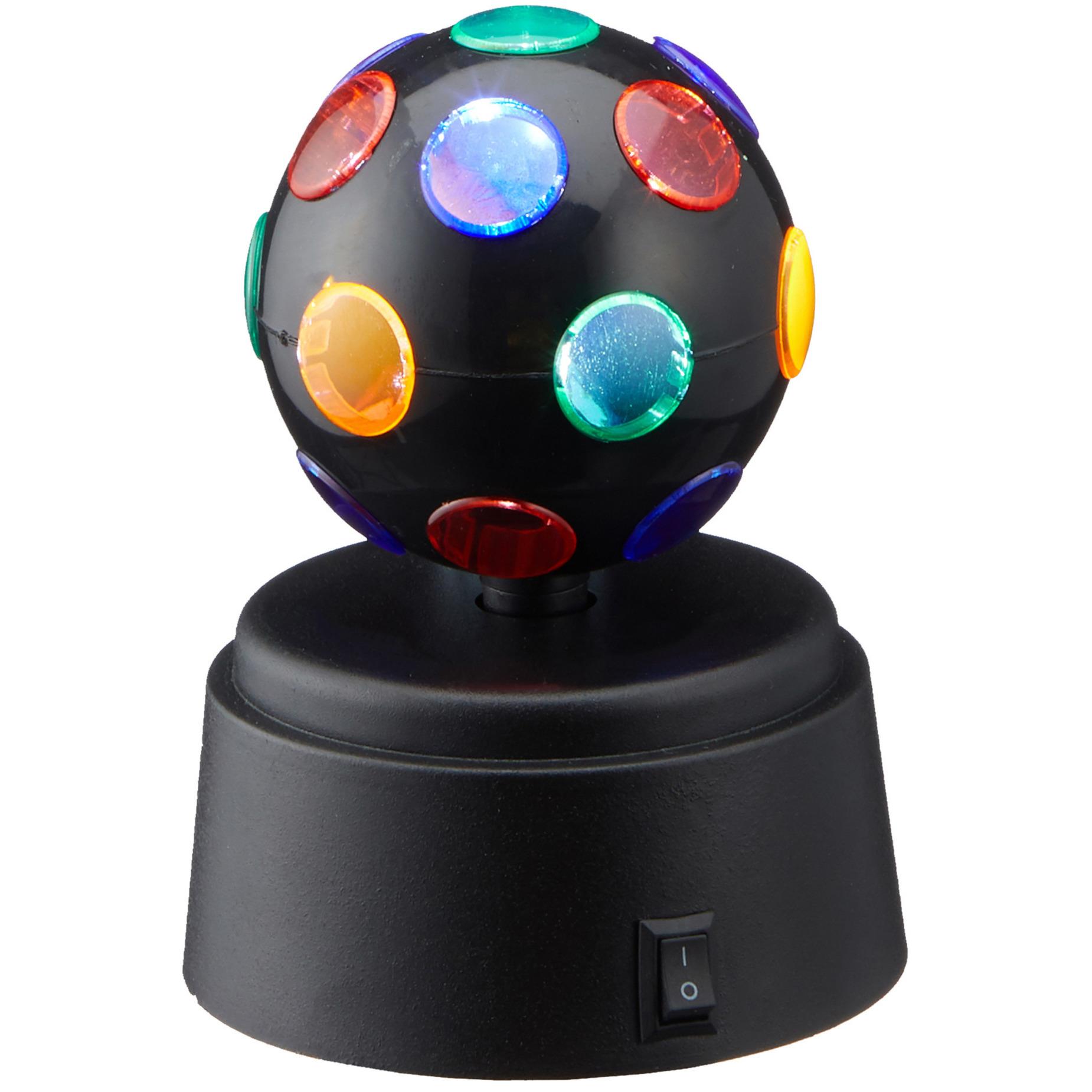 Disco lamp-licht roterend met verschillende kleuren op batterijen