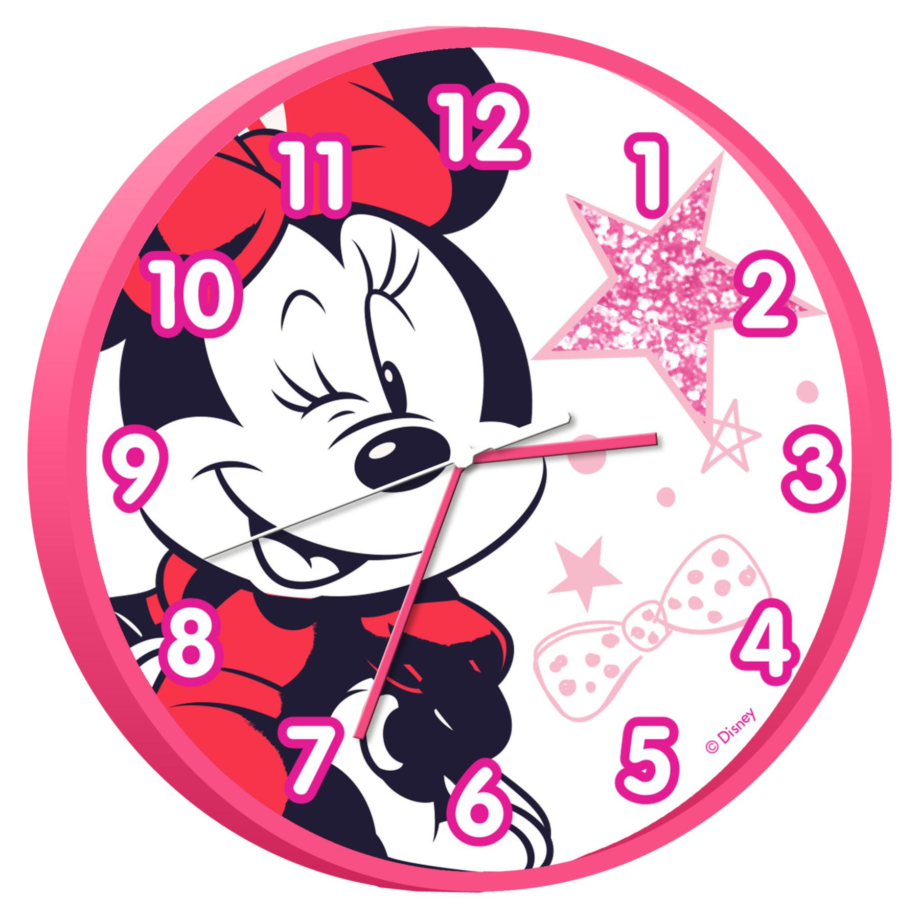 Disney Minnie Mouse wandklok 25 cm voor kinderen