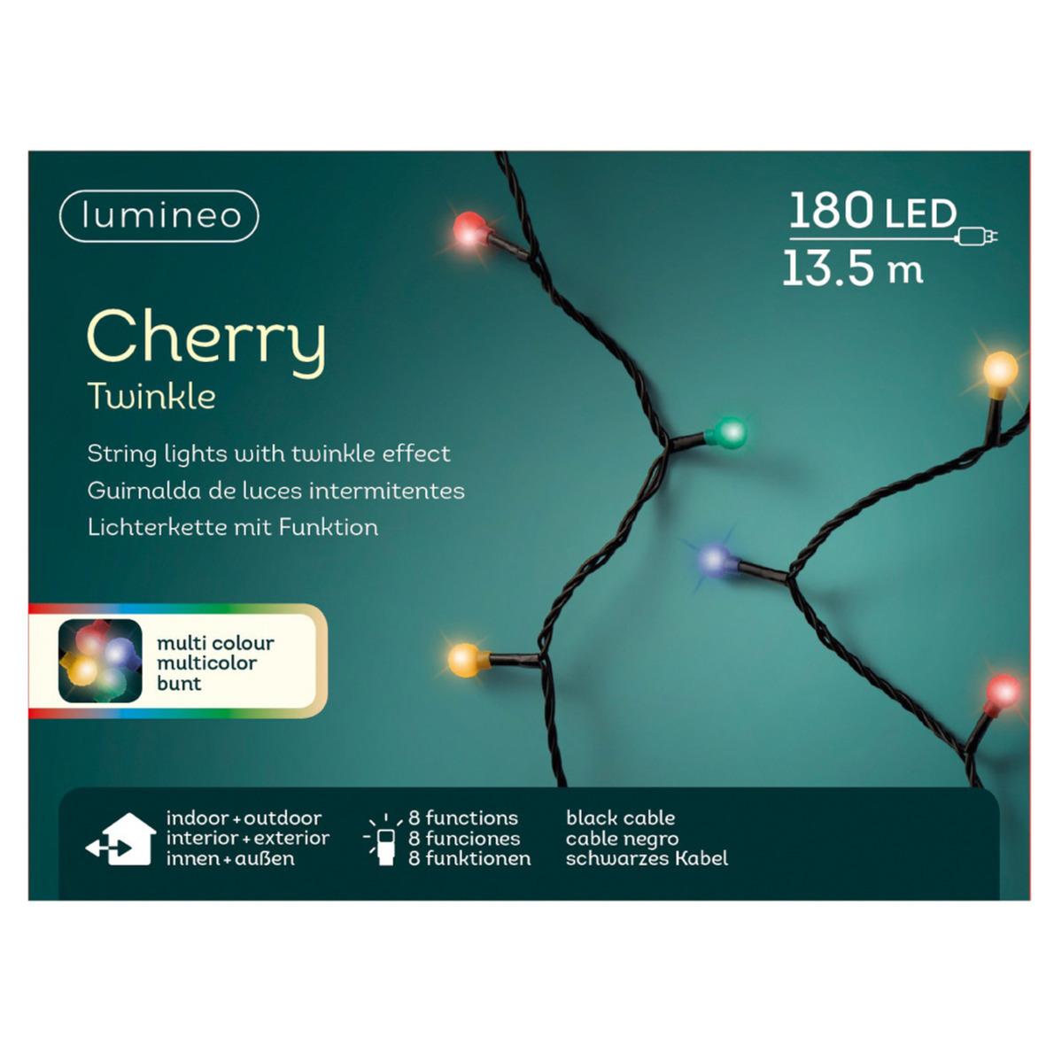 Feestverlichting twinkelend gekleurd met afstandsbediening 180 leds