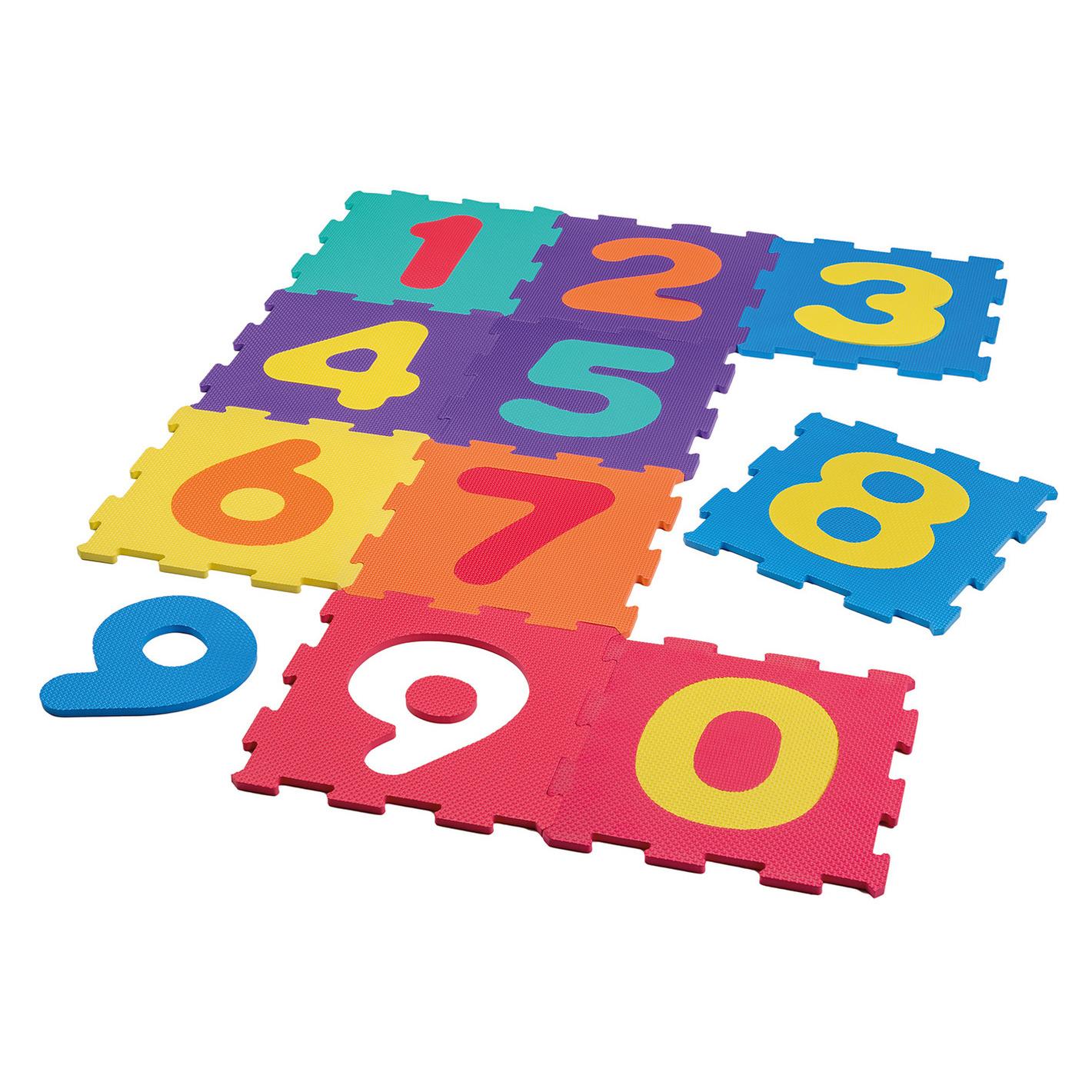 Foam puzzelmat-puzzeltegels-vloerpuzzel cijfers 0 t-m 9 educatief speelgoed