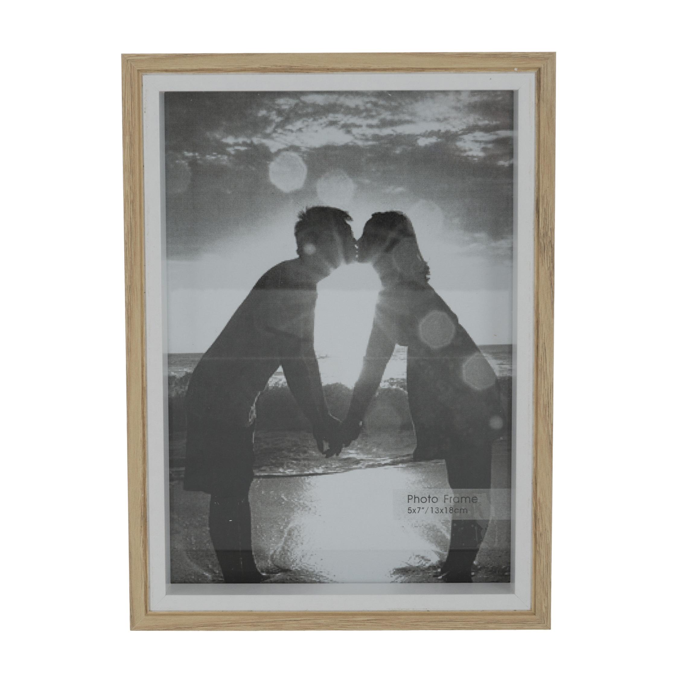 Fotolijstje naturel 20 x 15 cm geschikt voor een foto van 18 x 13 cm