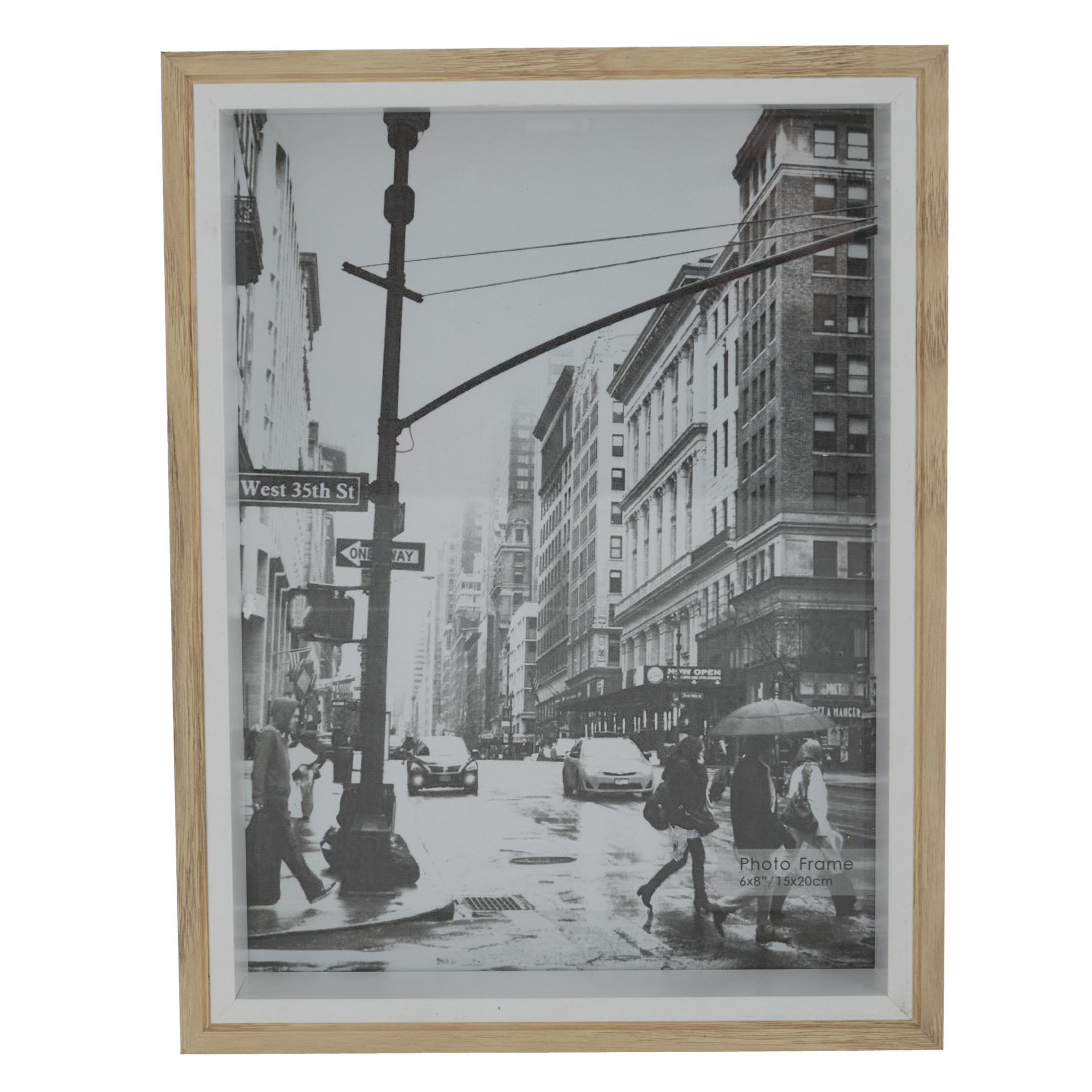 Fotolijstje naturel 27 x 22 cm geschikt voor een foto van 25 x 20 cm