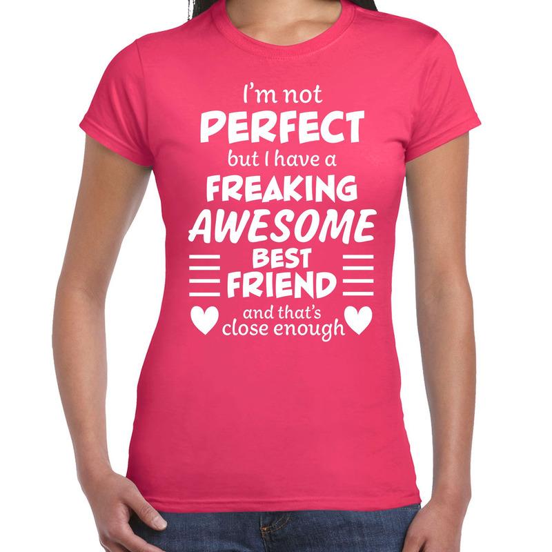 Freaking awesome Best friend-beste vriend cadeau t-shirt roze