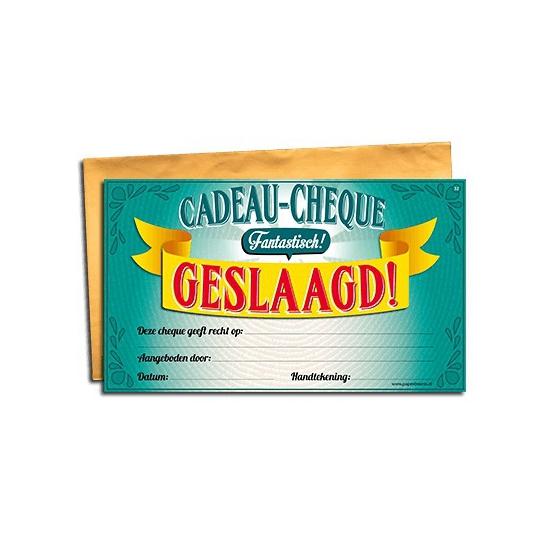 Geslaagd gift cheque Cadeau /feestartikelen/feestartikelen-algemeen/kado-cheques