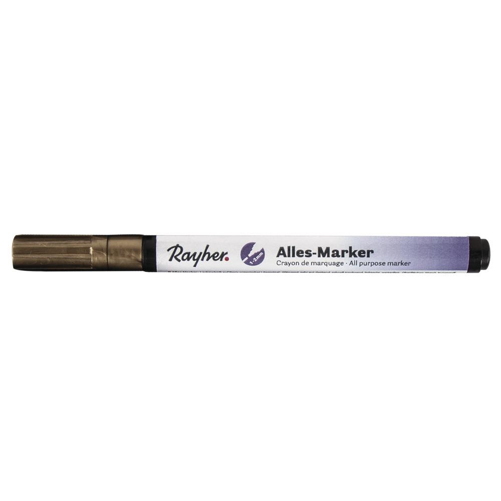 Gouden marker stift met een fijne punt