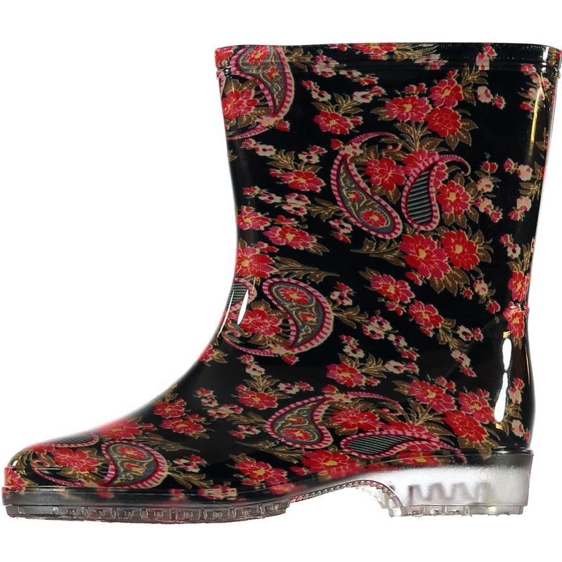 Half hoge dames regenlaarzen paisley print voor dames