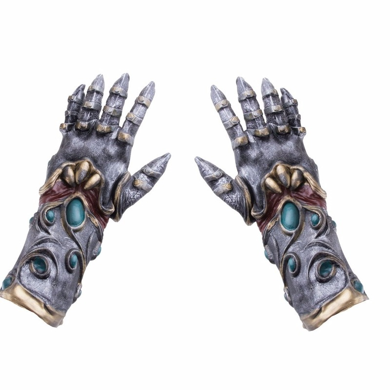 Horror handschoenen metaal-alien voor volwassenen