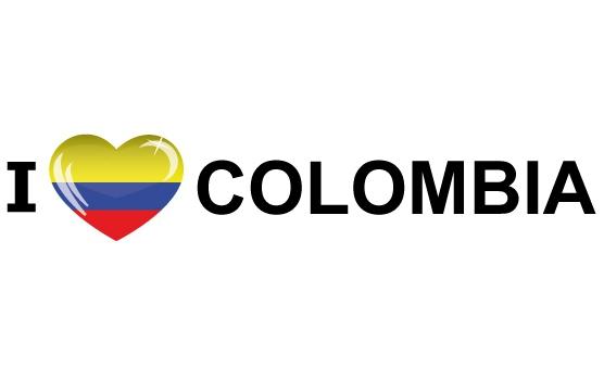 I Love Colombia sticker 19.6 x 4.2 cm
