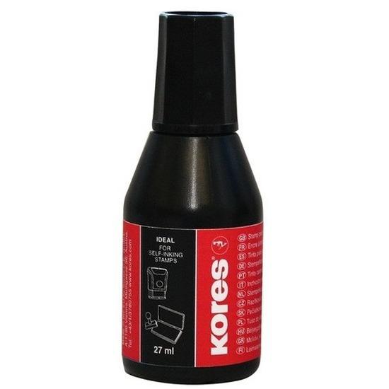 Inkt voor stempelkussen zwart 27 ml