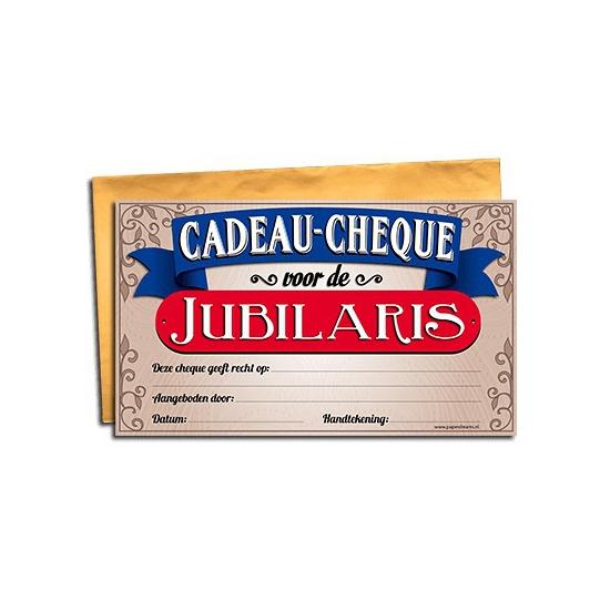 Jubilaris gift cheque Cadeau /feestartikelen/feestartikelen-algemeen/kado-cheques