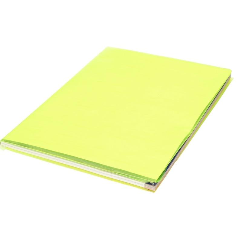 Kaftpapier folie schoolboeken neon geel 3 meter x 45 cm