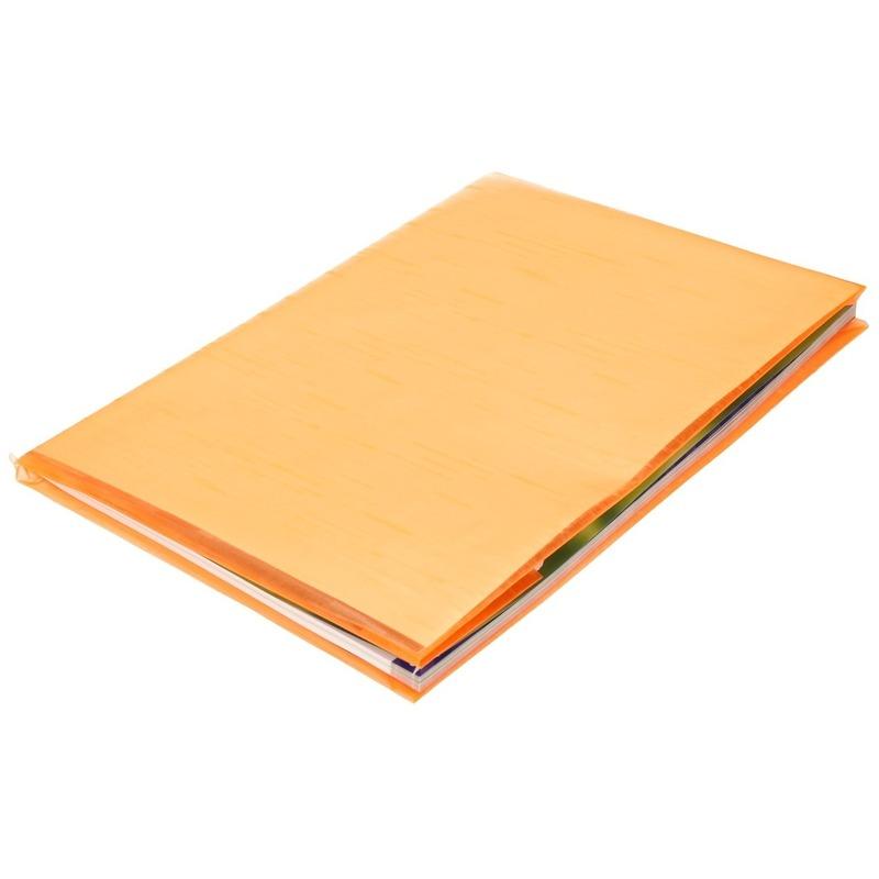 Kaftpapier folie schoolboeken neon oranje 3 meter x 45 cm