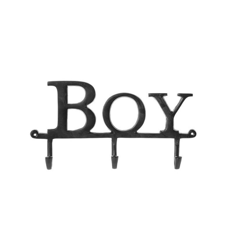 Kapstok met 3 kapstokhaken Boy Riverdale 40 x 28 cm zwart