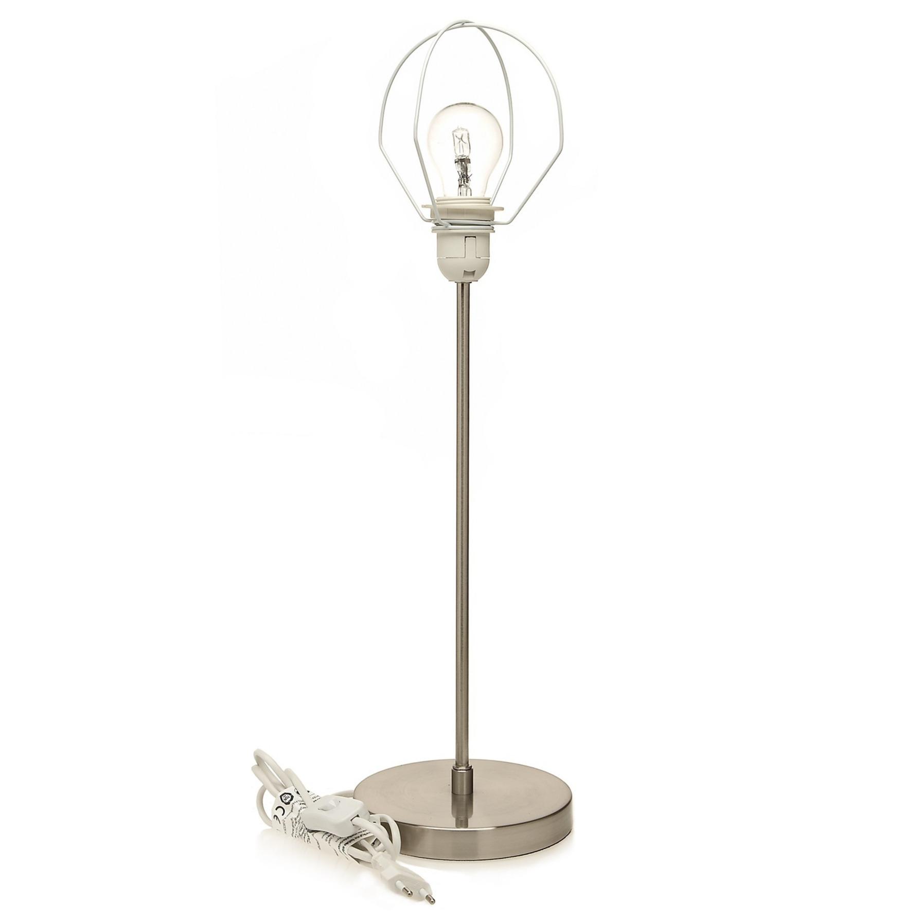 Lampen standaard zilver met E27 fitting 46 cm
