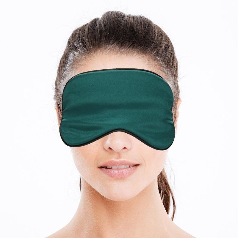Luxe slaapmasker- reismasker met zachte vulling groen