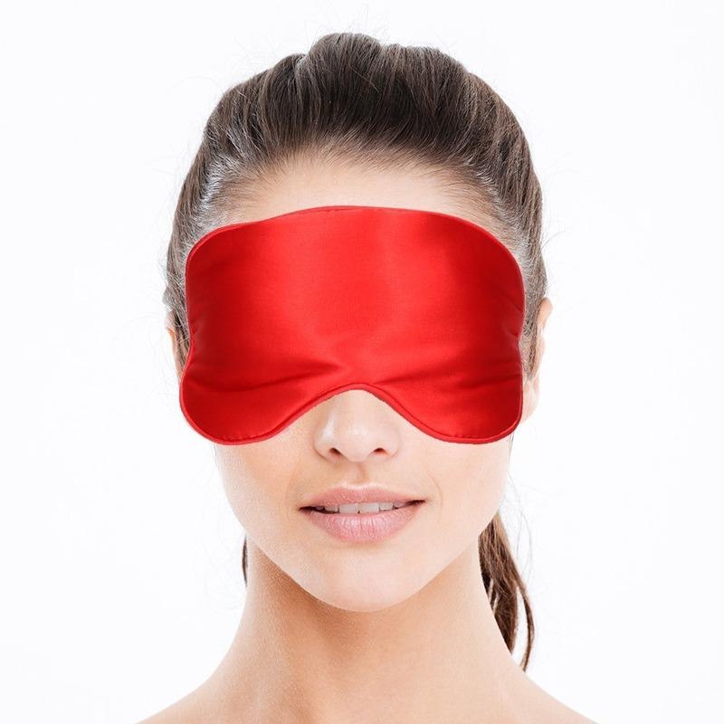 Luxe slaapmasker- reismasker met zachte vulling rood