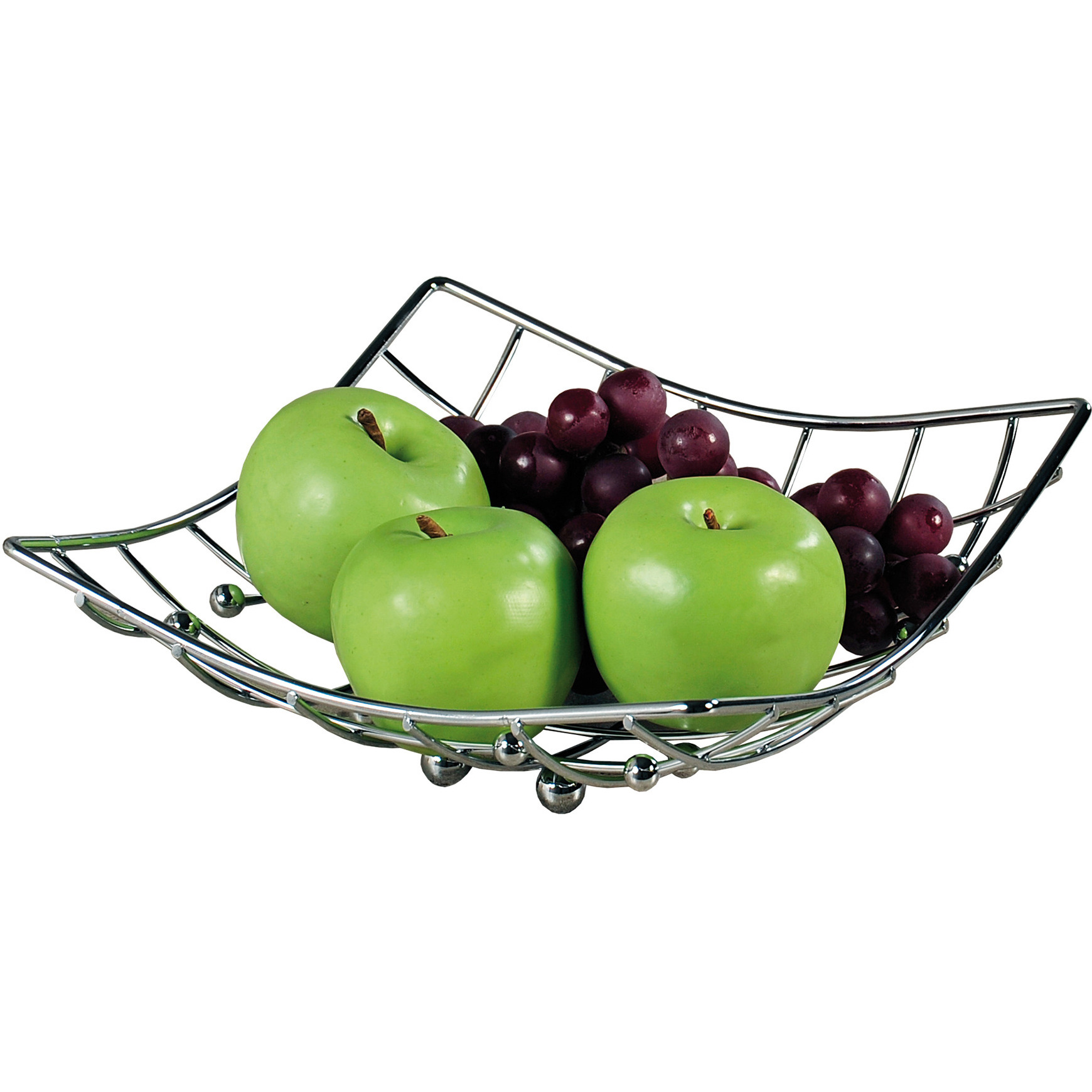 Metalen fruitschaal-fruitmand 26 x 24 x 9 cm