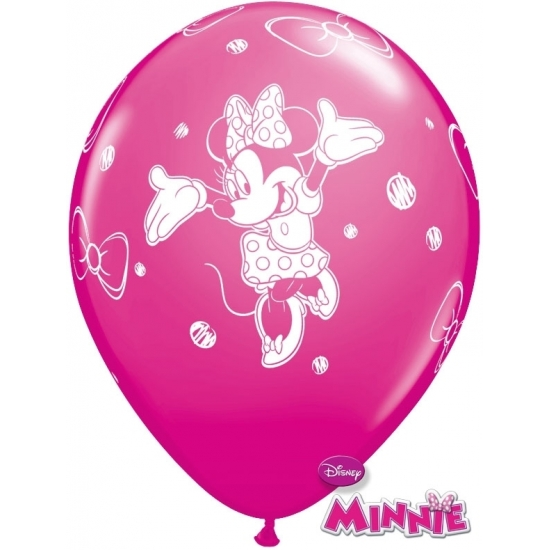 Minnie Mouse party ballonnen 6x stuks