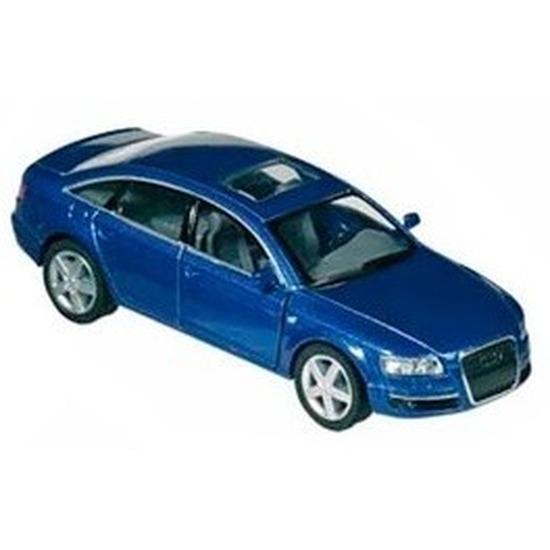 Modelauto Audi A6 blauw 1:38