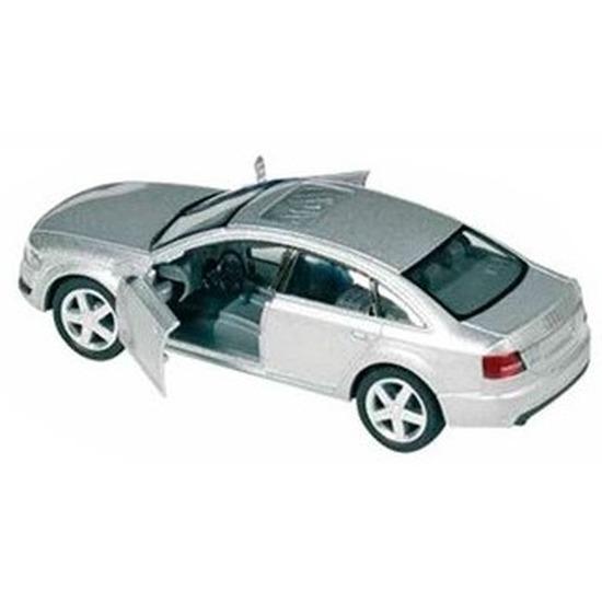Modelauto Audi A6 zilver 1:38