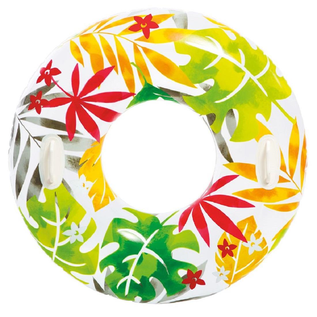 Opblaasbare bladeren zwemband-zwemring 97 cm