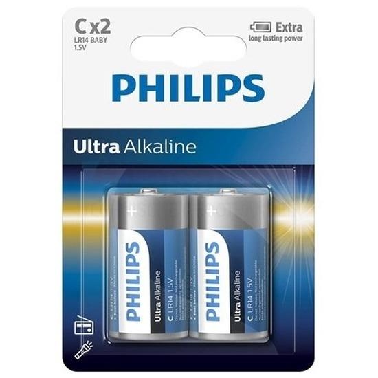 Phillips LL batterijen LR14 1,5 volt 2x stuks