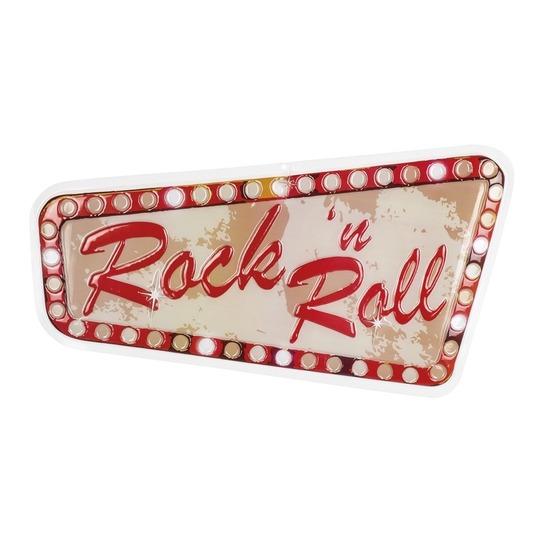 Rock n roll muur decoratie 33 x 60 cm