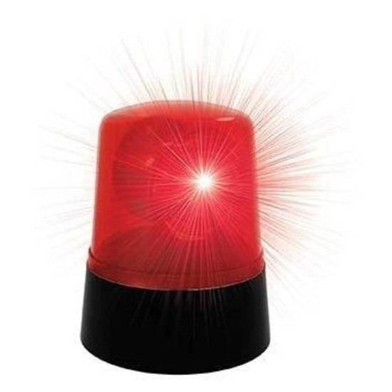 Rode disco zwaailicht lamp 9 x11cm