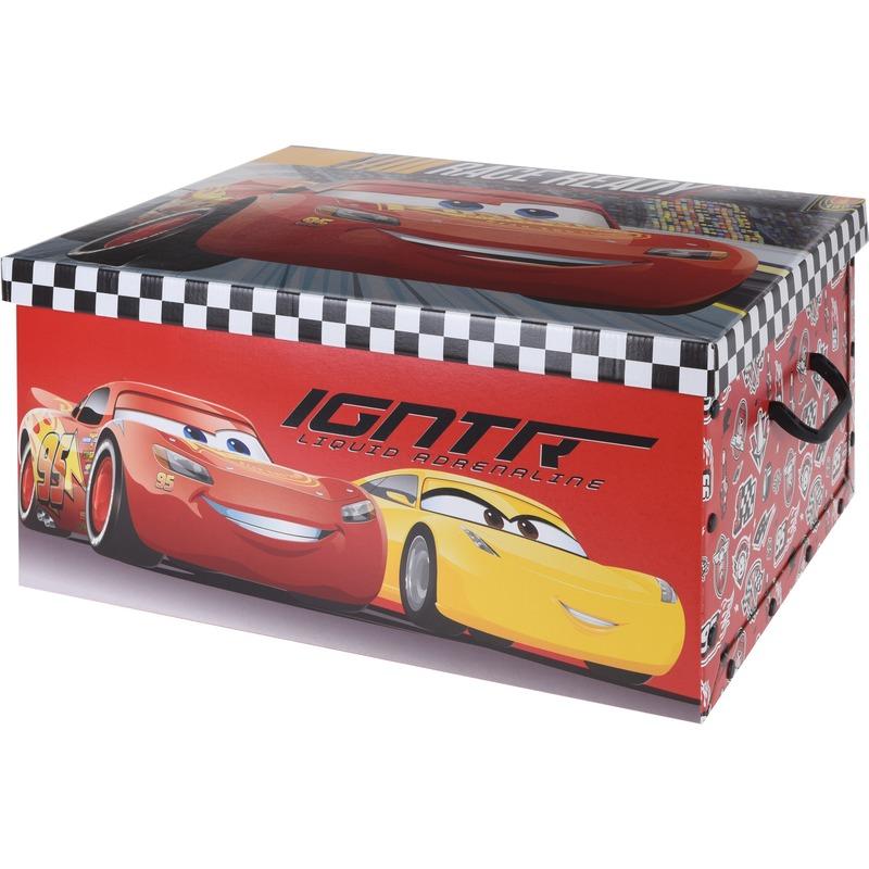 Rode opbergbox-opbergdoos Disney Cars 49 x 39 x 24 cm
