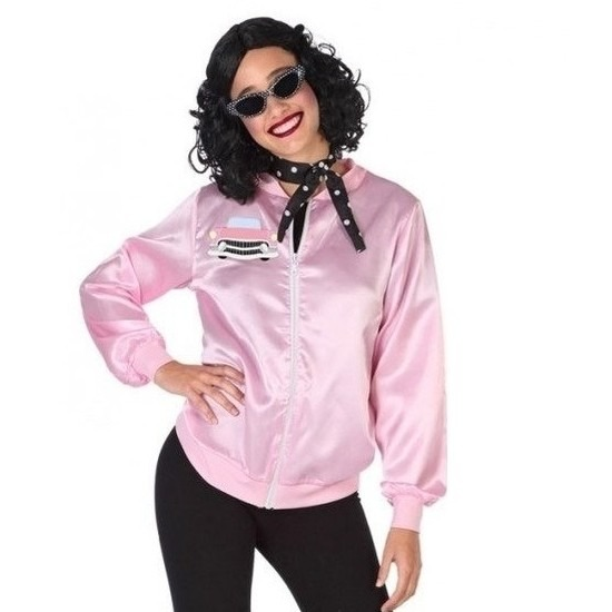 Roze rock and roll verkleed jasje voor dames