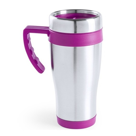 RVS thermosbeker-warm houd beker roze 500 ml