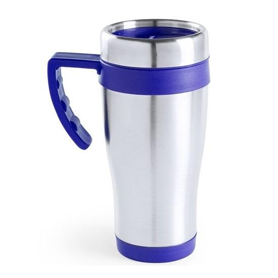 RVS thermosbeker-warm houd koffiebeker blauw 500 ml